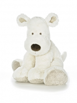 Teddy Cream Hund, XL, weiß